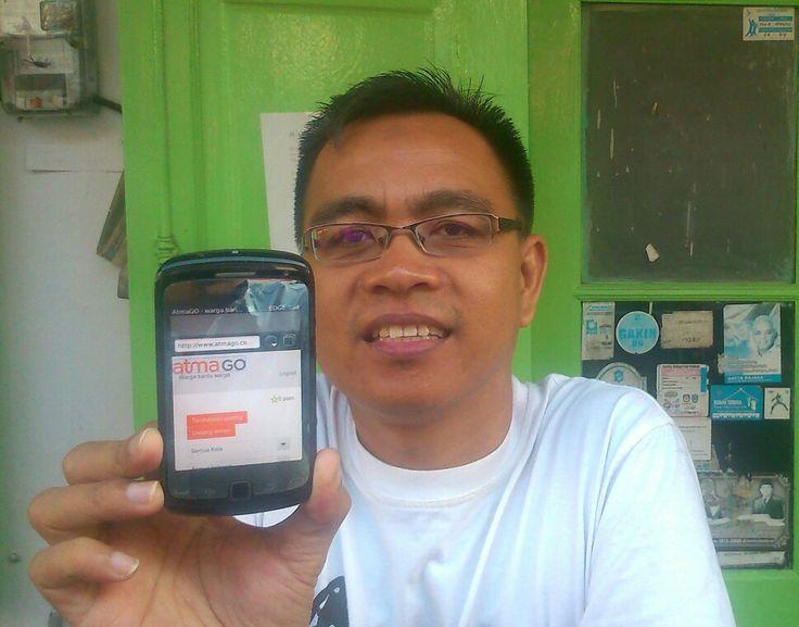 AtmaGO apps: warga bantu warga. Kunjungi dan register www.atmago.com
