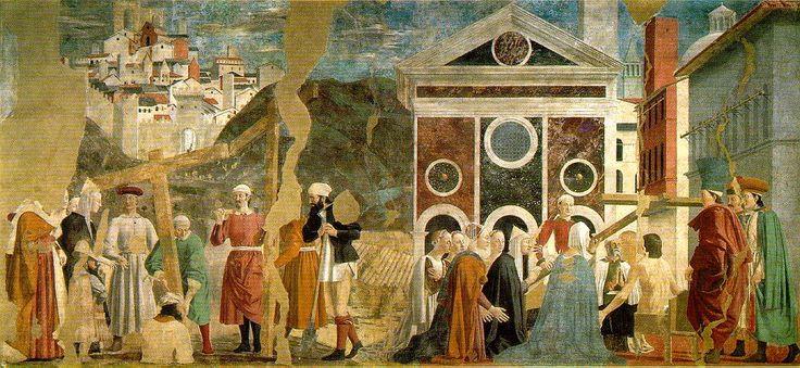 Piero Della Francesco, Discovery and Proof of the True Cross   c. 1466 (160 Kb); Fresco, 356 x 747 cm; San Francesco, Arezzo