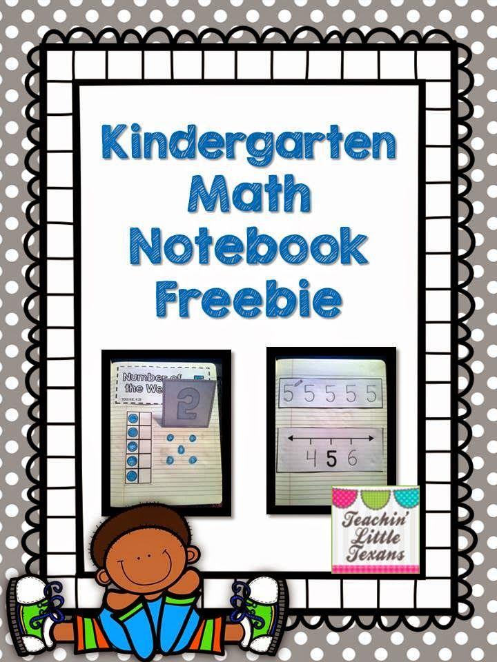 Teachin' Little Texans: Kindergarten Math Notebook {Freebie!}