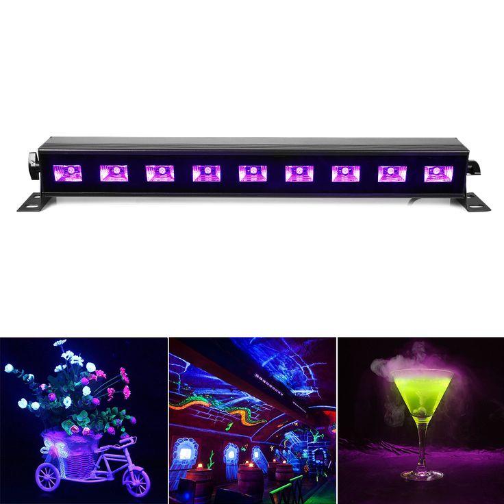 100% brand new uv hitam ac90v-240v led tahap cahaya dinding mesin cuci lampu cahaya untuk pesta, dj, menunjukkan, lampu disko rumah uni eropa/inggris/us/au plug