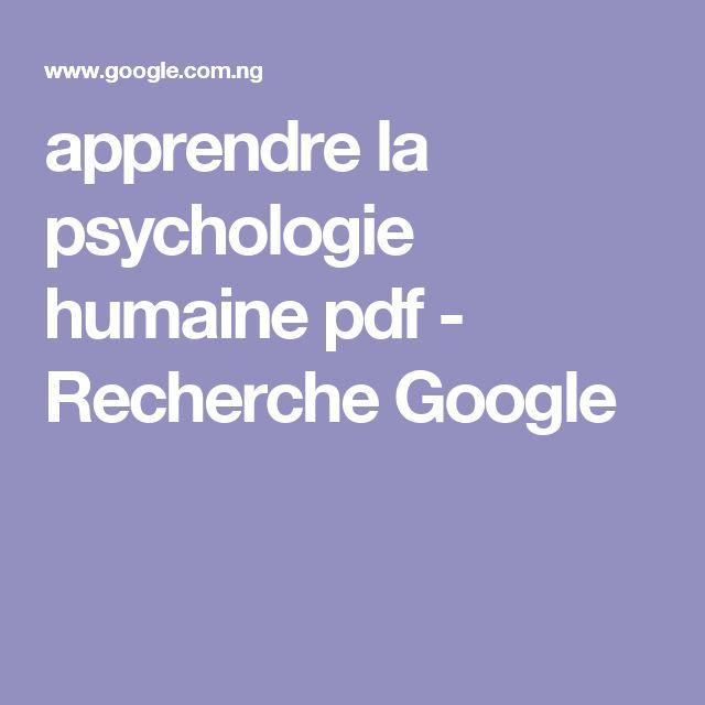 apprendre la psychologie humaine pdf - Recherche Google