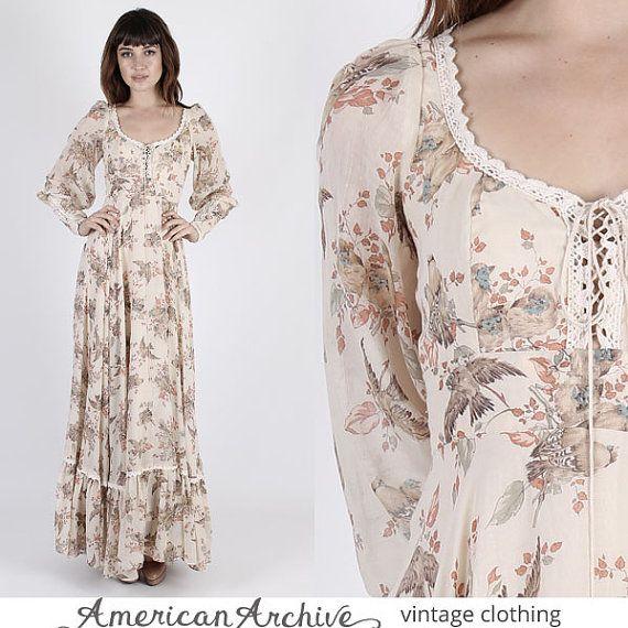 Vintage Gunne Sax Dress Prairie Dress Boho by AmericanArchive