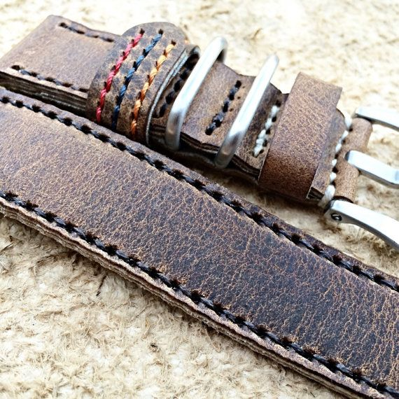 Rustic Brown Horween Leather Megalodon Panerai