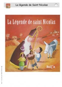 Des fiches de lecture CP-CE1 sur la légende de Saint-Nicolas.