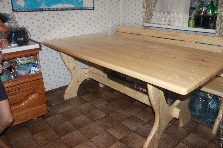 Купить Стол обеденный - дерево, ручная работа, состаренный стиль, стол, стол обеденный
