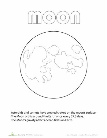 free planet coloring pages - moon coloring page free resources