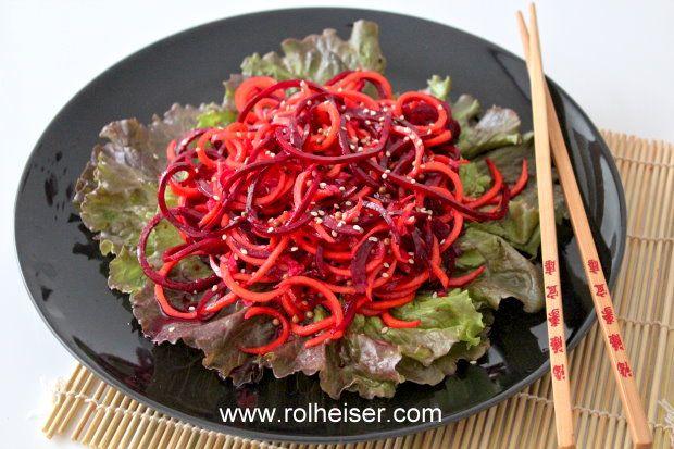"""Азиатский"" Салат из Свеклы и Моркови | Raw ""Asian"" Beet and Carrots Salad"