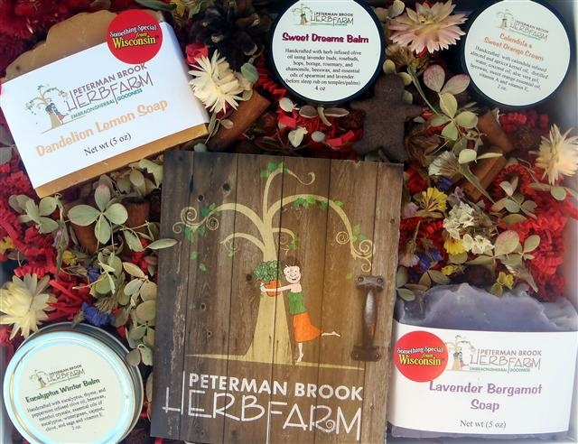 One of our gift sets with herbal fetti