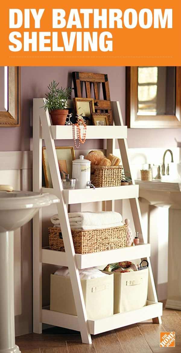 diy bathroom storage shelves the home depot - Home Depot Bathroom Design Ideas