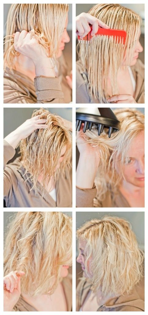 wavy hair how-to.