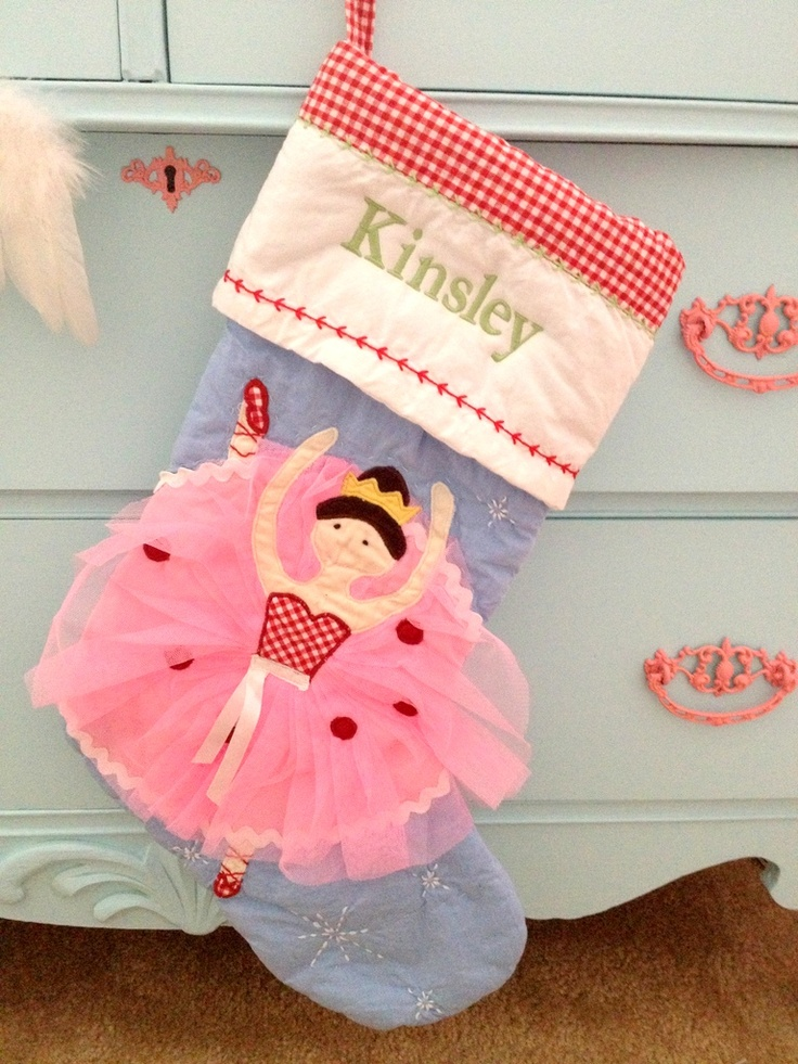 Pottery Barn Kids Ballerina Stocking They Have The Cutest