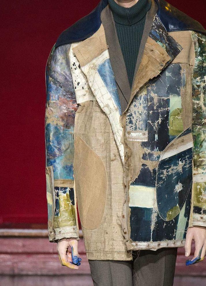 Maison Margiela menswear f/w 2015 - love the deconstructed rough texture...