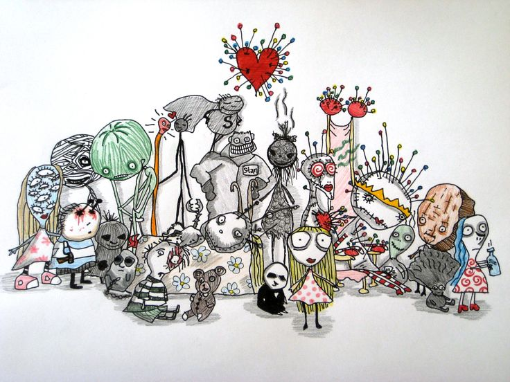 Tim Burton <3 I love his movies and his art so much! If you like him to please visit the link of this pic, it is a FANTASTIC and original website where you can visit his online art gallery!!