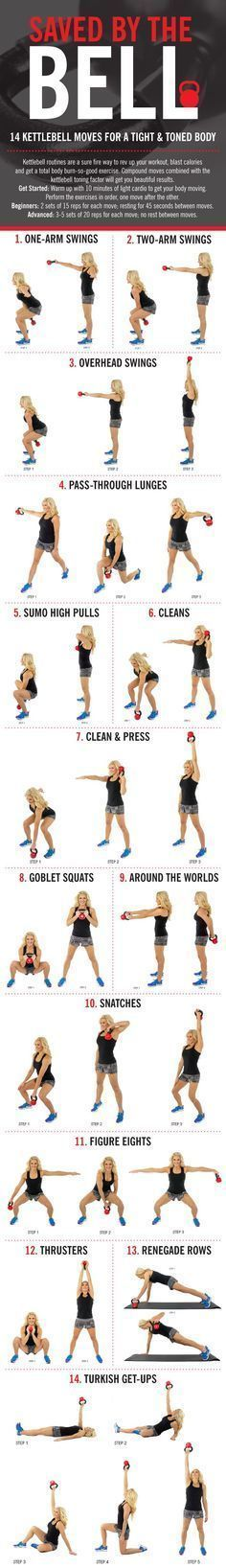 Free Workouts: Check out this kettlebell routine before your next gym session for a full body workout that torches calories! CLICK to see full workout. Comment after you try it and let us know what you think!