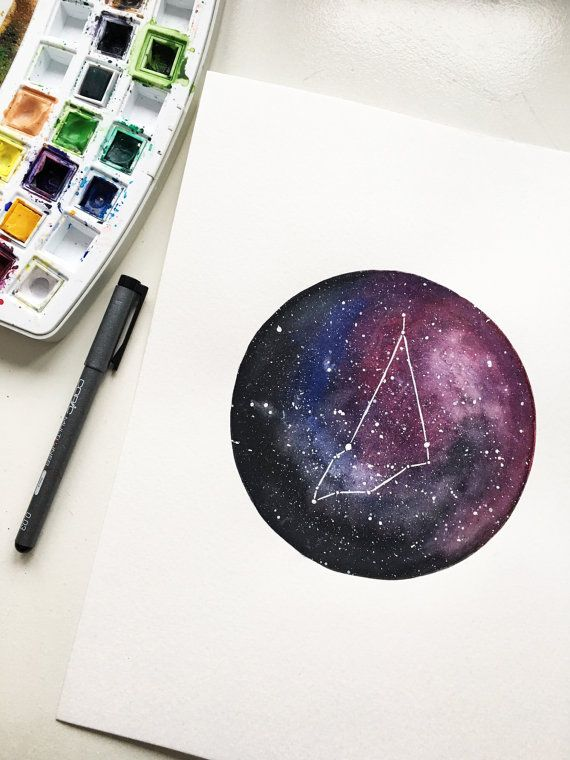 Constellation Capricorn wall art unique handmade от soapytuesday