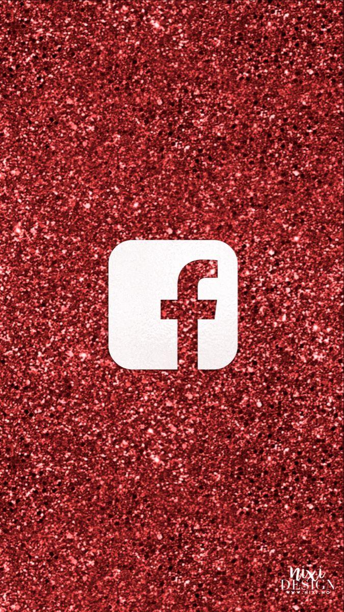 Xmas Red Glitter Facebook Iphone Icon App Icon Iphone App Design