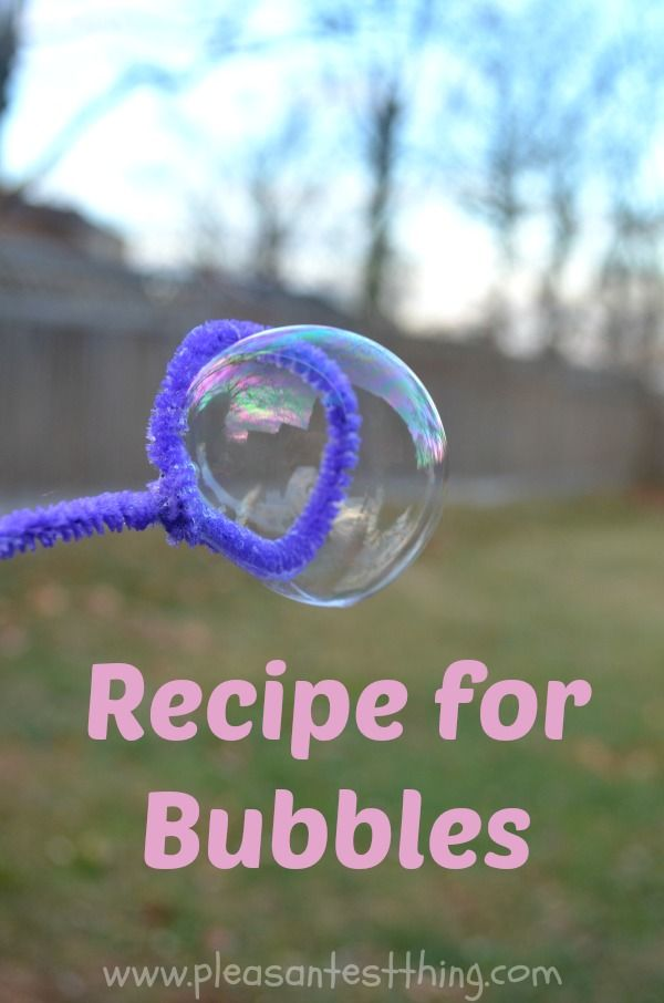 Making your own bubbles at home and save!