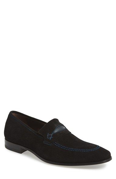 Bacco Bucci 'Splendid' Suede Penny Loafer (Men) available at #Nordstrom