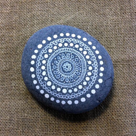 Mandala Painted Pebble. $20.00, via Etsy.