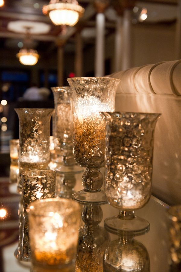 Photo via mercury glass receptions and wedding