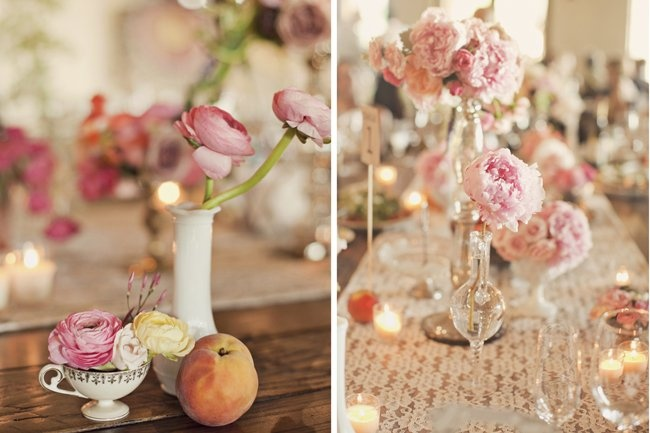Do you like the idea of using teacup (on left?) as a vessel for centerpiece flowers?
