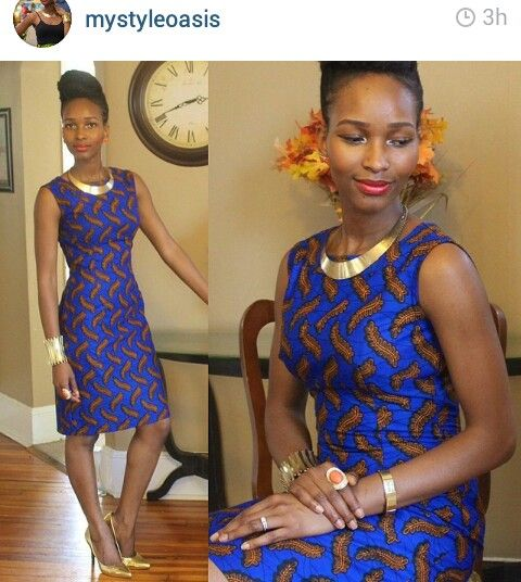 African print sheath dress http://www.dezangozone.com/Joli