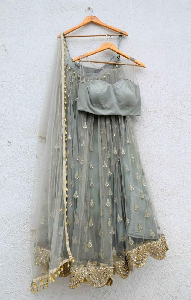 Baby Blue Lehenga Lace Set