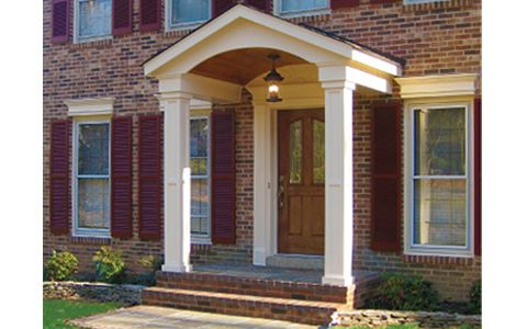 17 best images about portico on pinterest front doors for Colonial porch columns