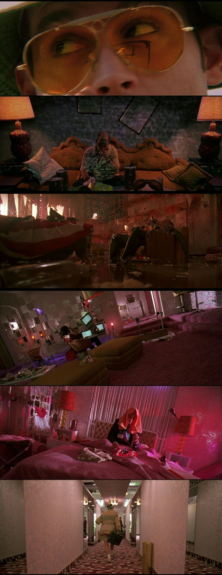 Fear and Loathing in Las Vegas(1998) Directed by Terry Gilliam. Cinematography by Nicola Pecorini.