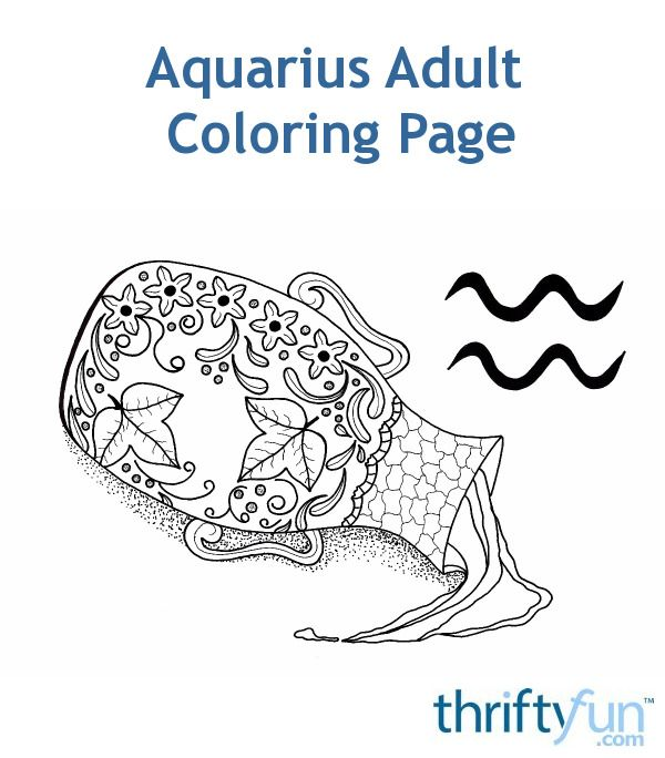 A FREE coloring page for zodiac followers. This one is for those born under the Aquarius sign and is the second FREE page in a series of 12! #coloring #adultcoloring #zodiaccoloring