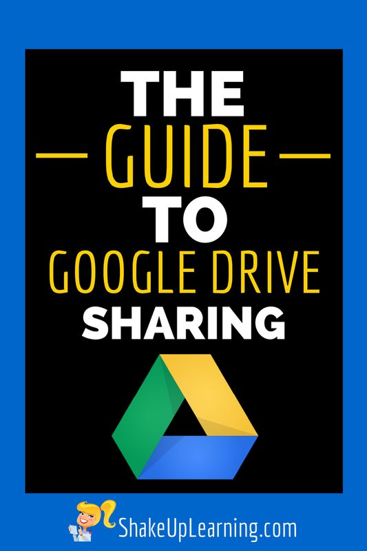 Google Drive resources for educators from Shake Up Learning.