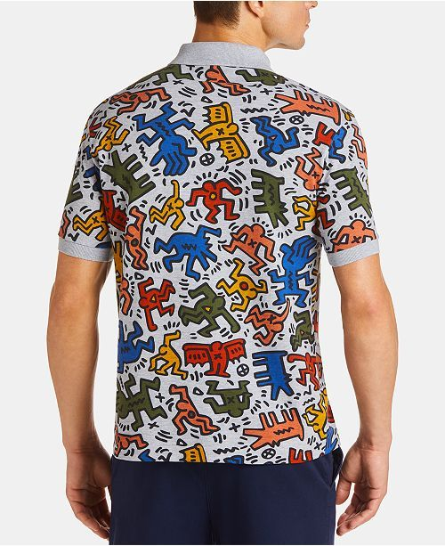 67a16b38414 Lacoste x Keith Haring Men's Classic-Fit Printed Mini Polo Shirt & Reviews  - Polos