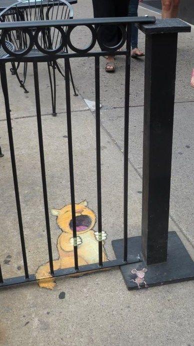 El increíble arte callejero de David Zinn.