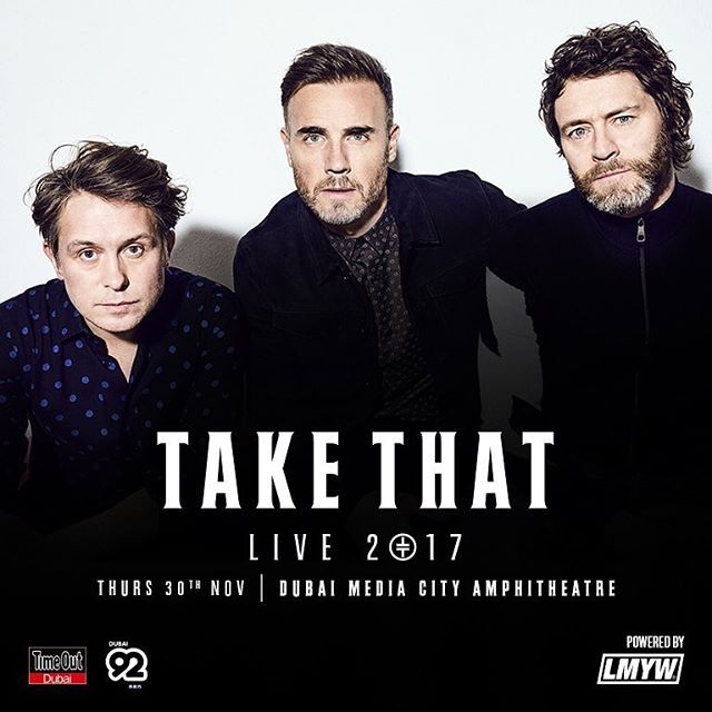 This is not a drill Take That are coming to Dubai Media City Amphitheatre on 30 November! The Grazia girls will be there. Will you? . . . Visit TakeThatDXB.com for tickets #TakeThatDXB #LMYW  via GRAZIA MIDDLE EAST MAGAZINE OFFICIAL INSTAGRAM - Fashion Campaigns  Haute Couture  Advertising  Editorial Photography  Magazine Cover Designs  Supermodels  Runway Models