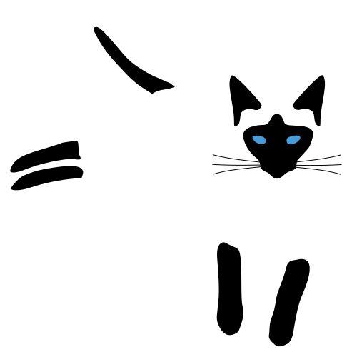 siamese cat minimalist vector
