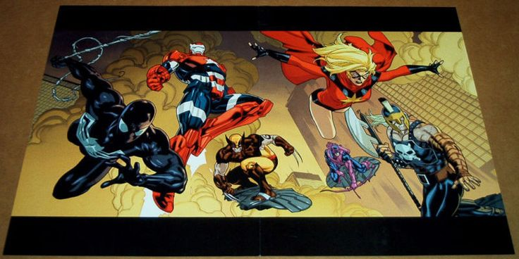 VENOM WOLVERINE POSTER NEW AVENGERS #56  IRON MAN MS MARVEL ARES HAWKEYE PATRIOT