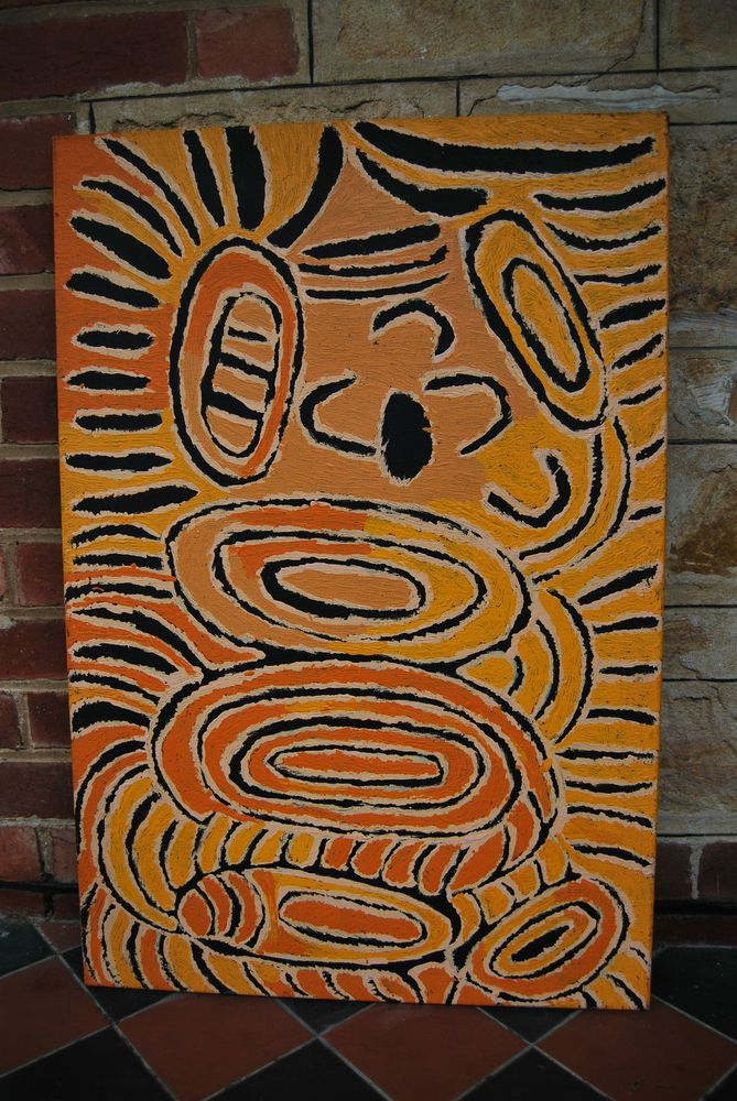 Tjunkiya Napaltjarri Papunya Tula - Large Original Painting - Aboriginal Art