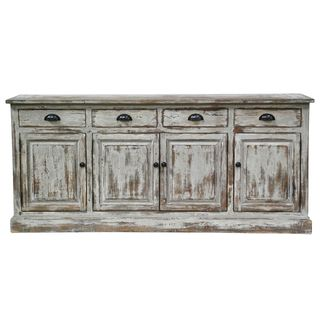 @Overstock.com - Winfrey 4-drawer/ 4-door Sideboard - Give you home a rustic look with this distinctive antique white sideboard. It has four cabinets and drawers so you'll have plenty of space to store necessities, and its vintage finish will go perfectly in a traditionally decorated home.  http://www.overstock.com/Home-Garden/Winfrey-4-drawer-4-door-Sideboard/7954914/product.html?CID=214117 $1,459.99