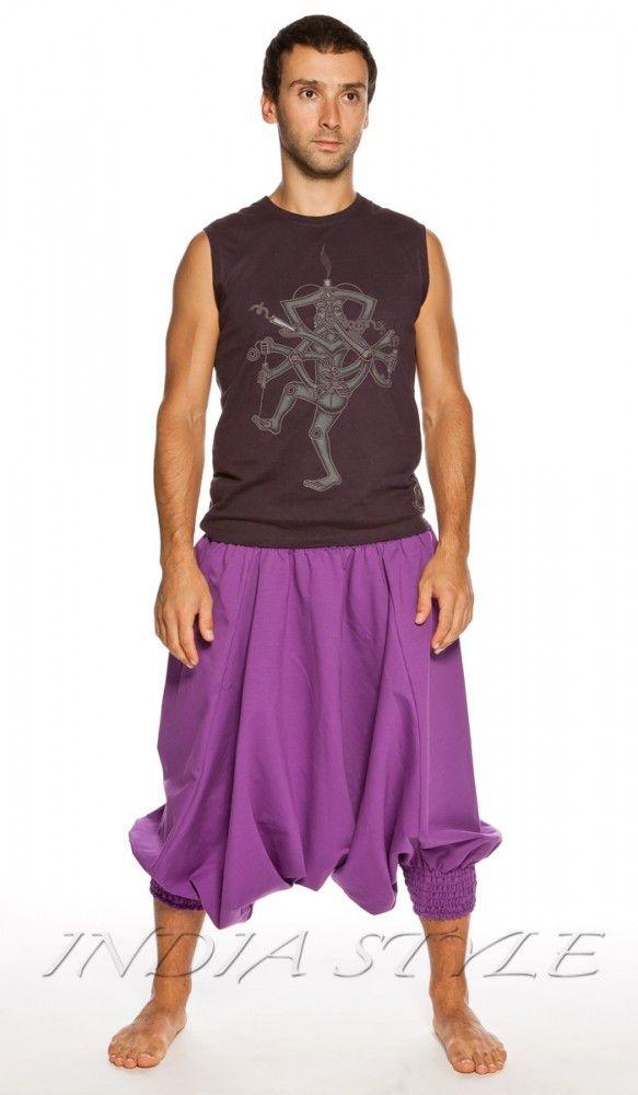 Зуавы, аладины, фиолетовые шаровары, мужская индийская одежда, Индия, восток, одежда для йоги, мужские штаны для йги, yoga pants for man, Aladdin pants, trousers, men's Indian clothing, India. 1440 рублей