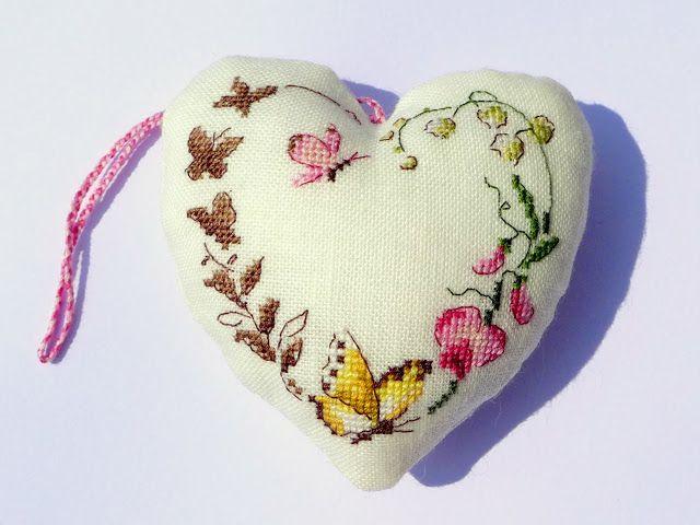 Moja pasja, mój świat: Cœur fleuri - Abécédaires au point de croix - Véronique Enginger