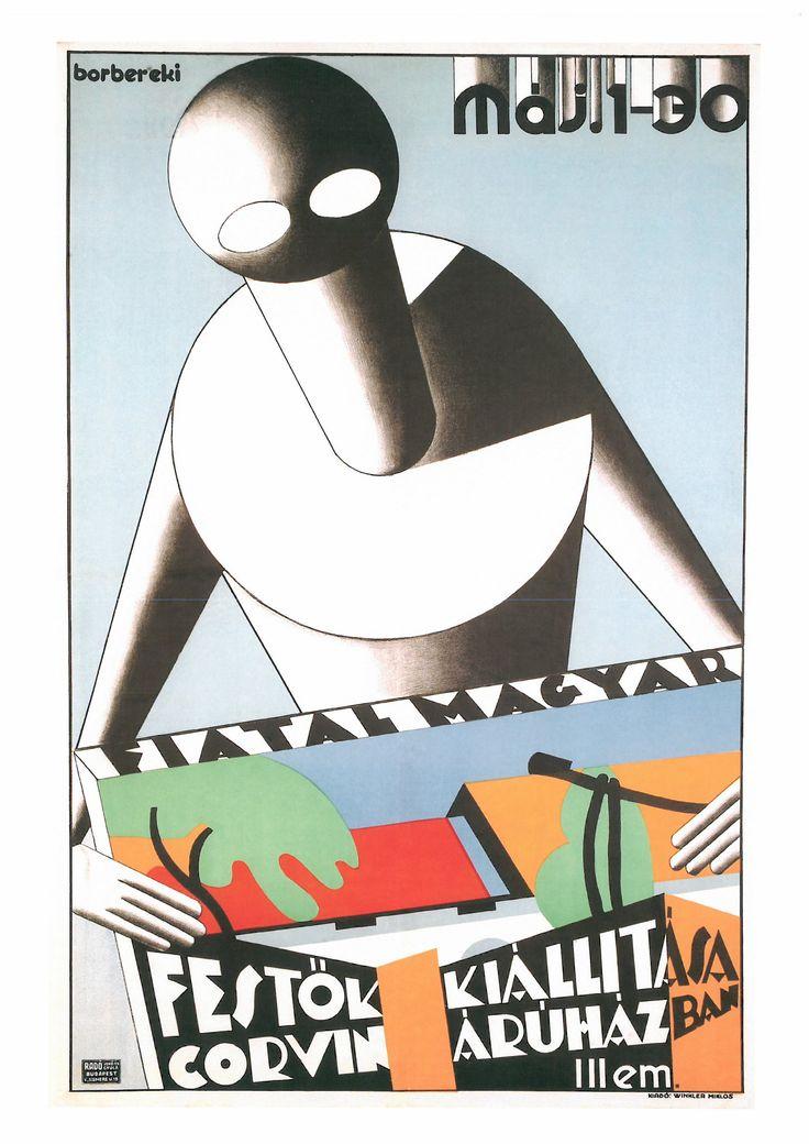 166. ZOLTÁN BORBEREKI KOVÁCS (1907-1992) Fiatal Magyar Festök Kiállitása Corvin Árúhàzbon (Eposición de jóvenes pintores húngaros en Almacenes Corvin). 1936