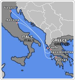 Italy - Greece Ferries Trip from Patras  to Venice