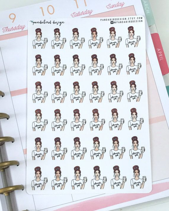 This listing includes a set of 36 Planner Girl Cuties as pictured. DETAILS: - Each stocking sticker measures approximately .5 x .95 - The stickers are printed and kiss cut on a sticker sheet that measures 7.5 x 5 Please be sure to review my shipping and refund policies prior to purchasing. Questions? Shoot me a convo message.  -----  Browse other items in my shop: https://www.etsy.com/shop/pandabirddesign  Follow me on instagram for new releases, coupon codes, and updates!...