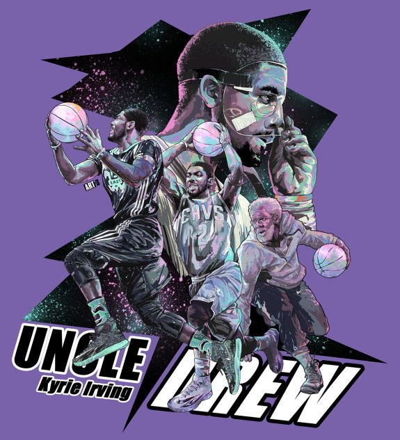 Kyrie Irving x Uncle Drew 'Purple' Illustration