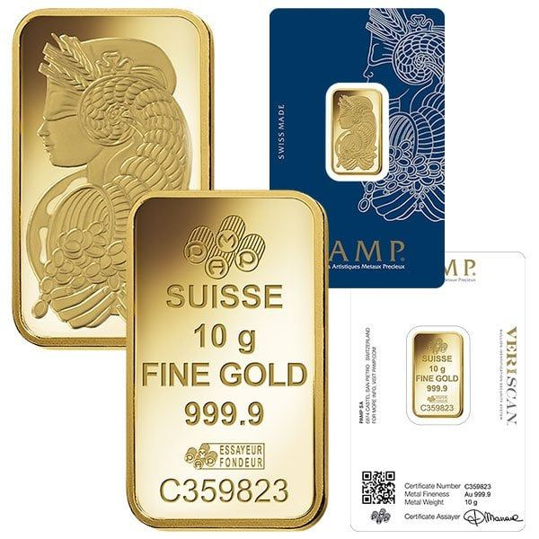 10 Gram Pamp Suisse Gold Bars For Sale Lowest Prices Money Metals Gold Bullion Bars Gold Bars For Sale Gold Bar