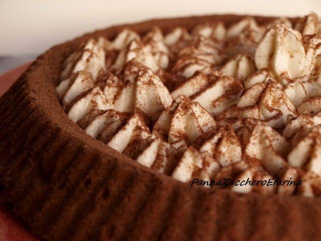 Crostata al cacao con crema al mascarpone
