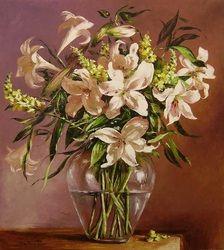 Lilium, 100x90 cm, oil on canvas