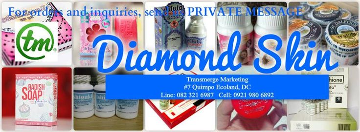 FOR ORDERS/INQUIRIES! Pls send us Private Message :) Click the link below.. https://www.facebook.com/messages/DiamondSkinCompany