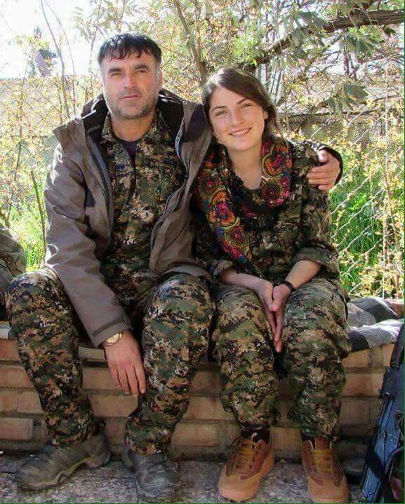 YPG/YPJ Father and daughter fighting ISIS in Rojava  ✌
