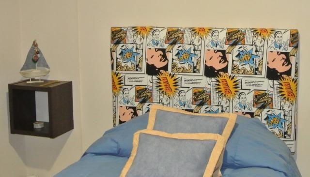 Celeste Diforte - Respaldo tapizado en telas estampadas